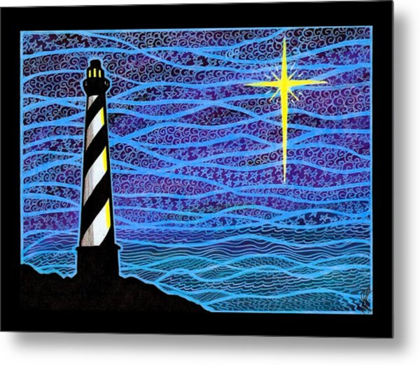 O Holy Night Hatteras Metal Print