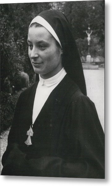 O More White Bonnets For French Nuns Metal Print by Retro Images Archive