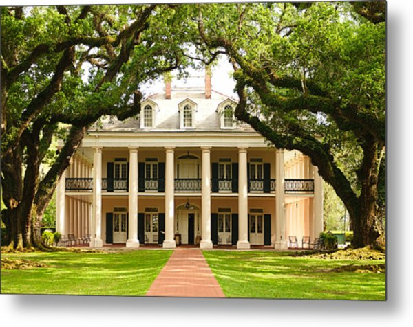 Oak Alley Mansion Metal Print