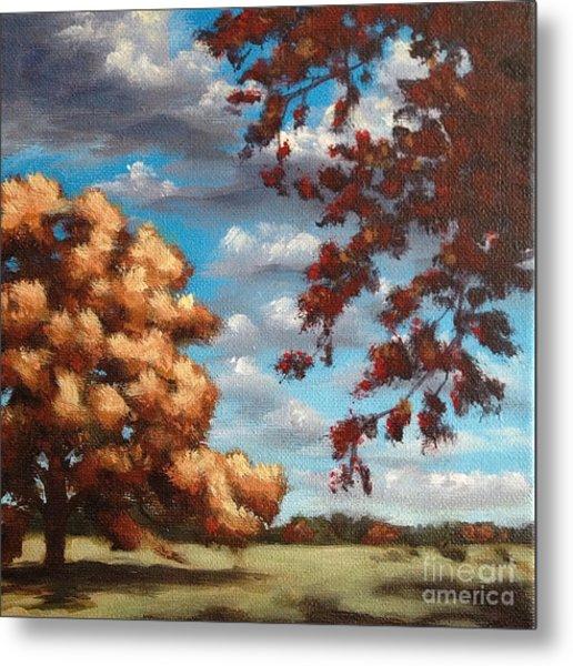 Oak At Fall Metal Print by Ric Nagualero