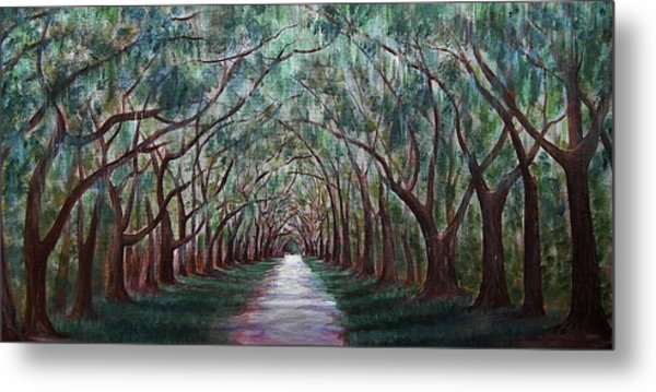 Oak Avenue Metal Print