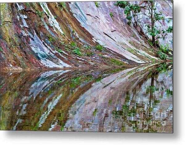 Metal Print featuring the photograph Oak Creek Canyon Reflection by Mae Wertz