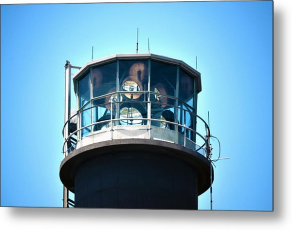 Oak Island Lighthouse Beacon Lights Metal Print