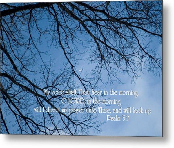 Oak Tree Psalm Metal Print by Denise Beverly