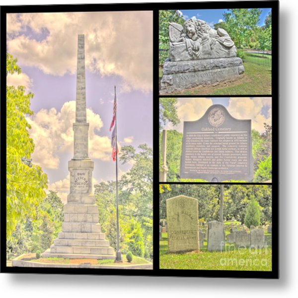 Oakland Cemetery Collage Metal Print