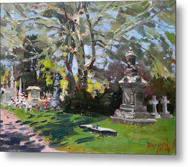 Oakwood Cemetery Metal Print