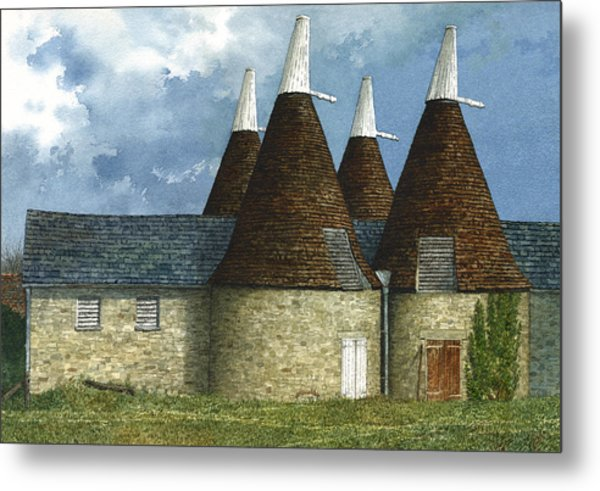 Oast Houses Metal Print