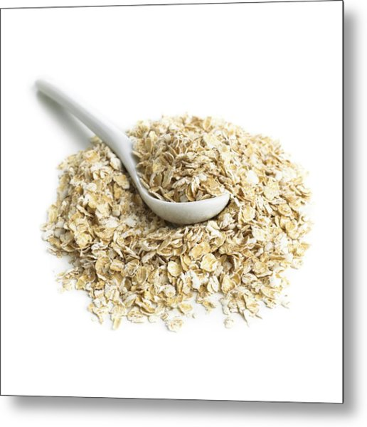 Oats And A Spoon Metal Print