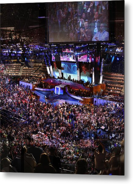 Obama And Biden At 2008 Convention Metal Print
