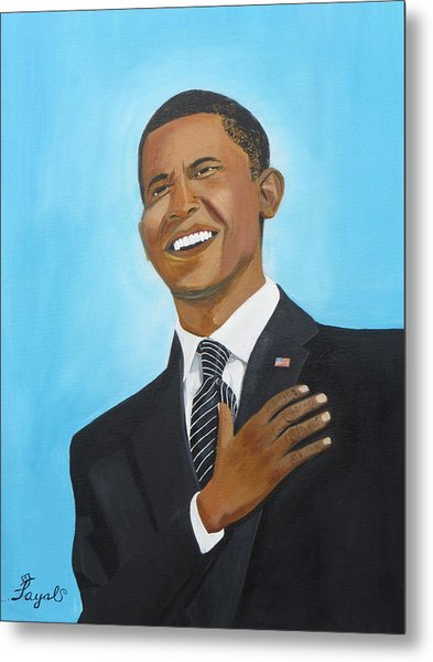 Obama's First Inauguration Metal Print by Artistic Indian Nurse