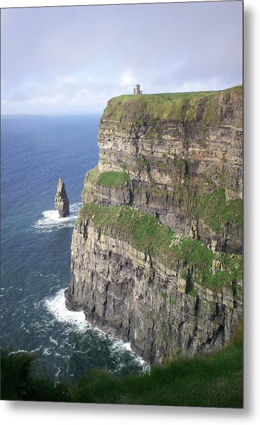 Cliffs Of Moher - O'brien's Tower Metal Print