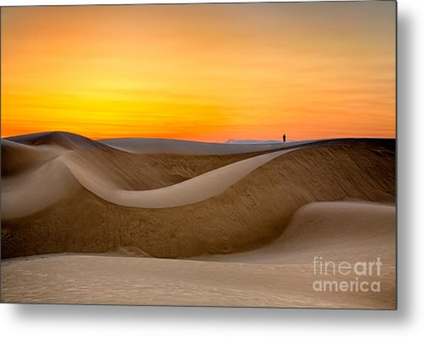 Observing Sunset At The Oceano Dunes Metal Print