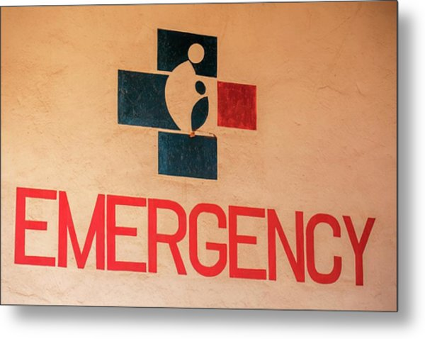 Obstetrics Emergency Sign Metal Print by Mauro Fermariello/science Photo Library