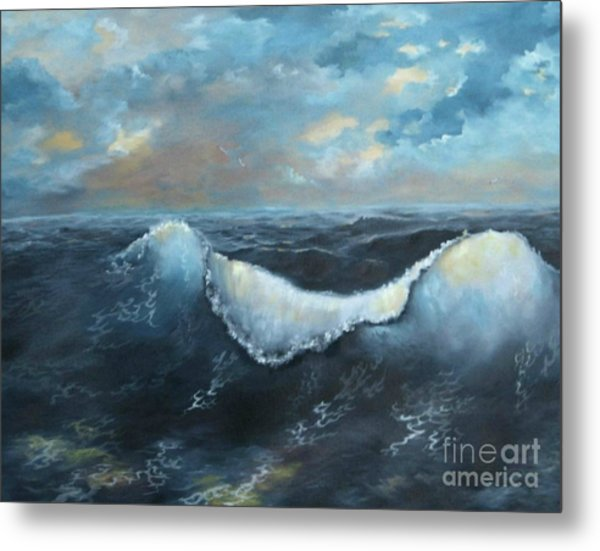 Ocean At Sunset Metal Print