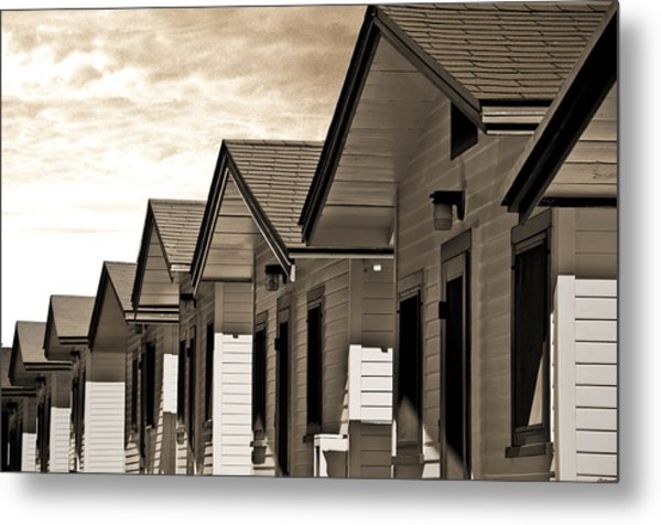 Ocean Beach Bungalows Metal Print by Larry Butterworth