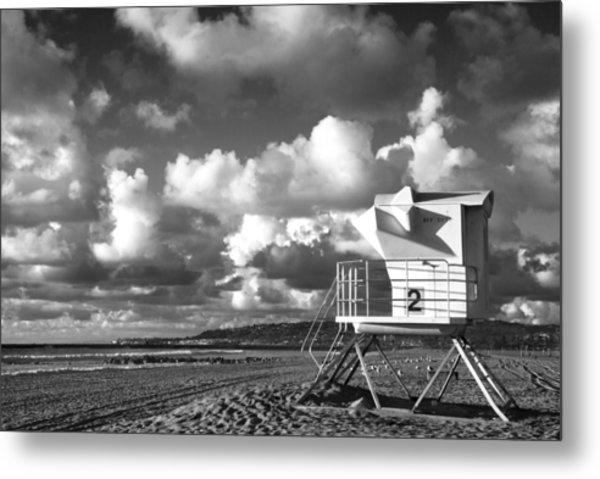 Ocean Beach Lifeguard Tower Metal Print
