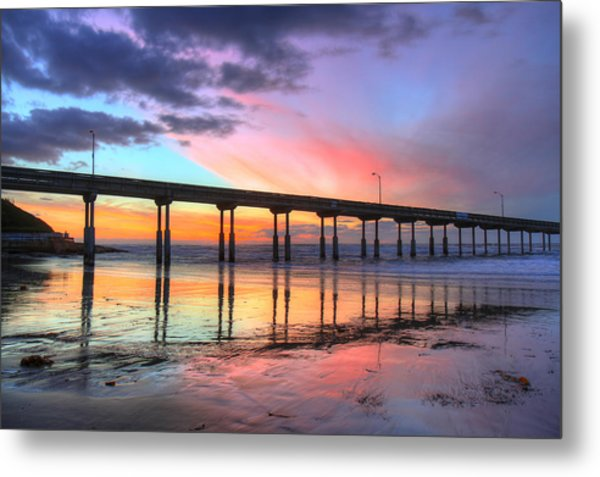 Ocean Beach Sunset Metal Print