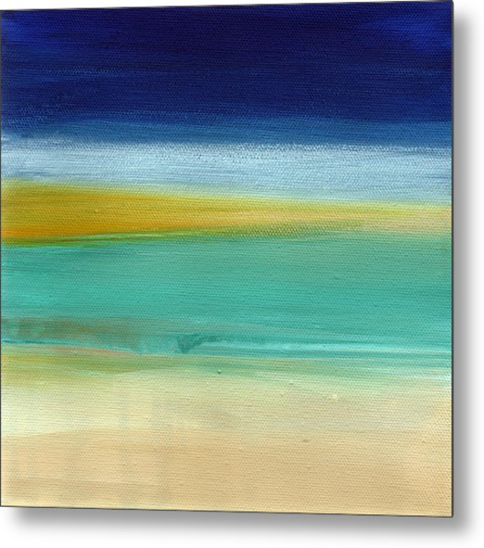 Ocean Blue 3- Art By Linda Woods Metal Print