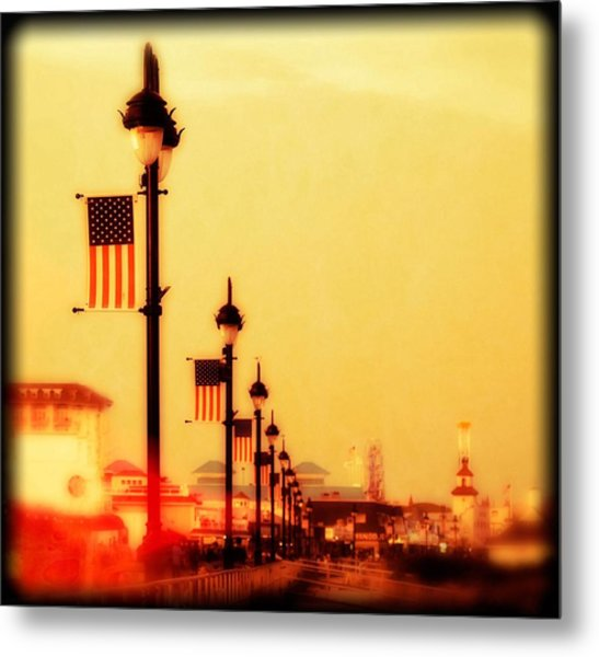 Ocean City At Dusk Metal Print