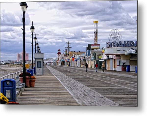 Ocean City Boardwalk Metal Print