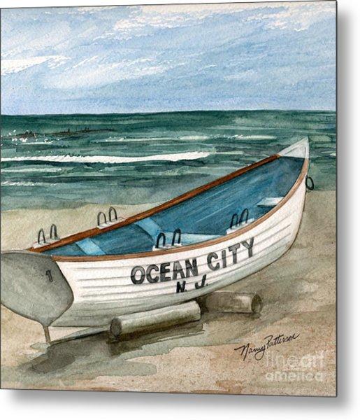 Ocean City Lifeguard Boat 2  Metal Print