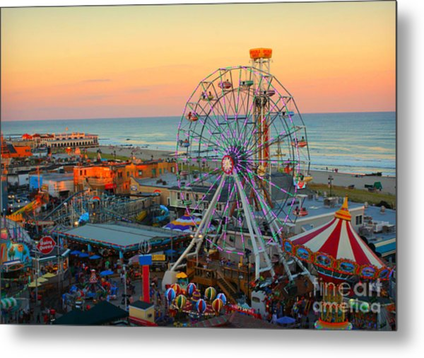 Ocean City Nj Boardwalk And Music Pier Metal Print