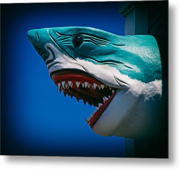 Ocean City Shark Attack Metal Print