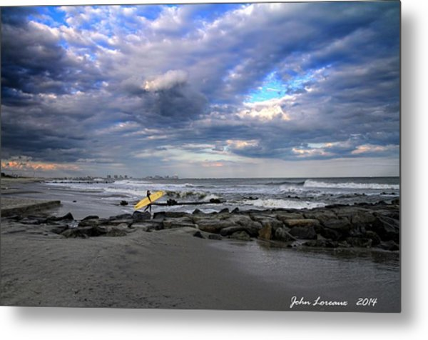 Ocean City Surfing Metal Print