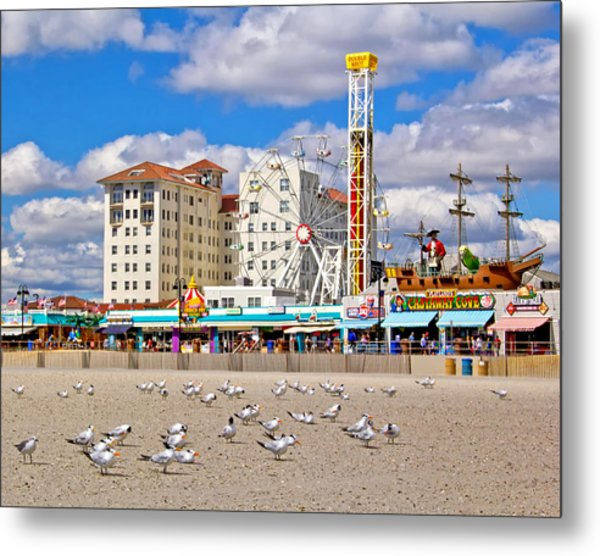 Ocean City View Metal Print