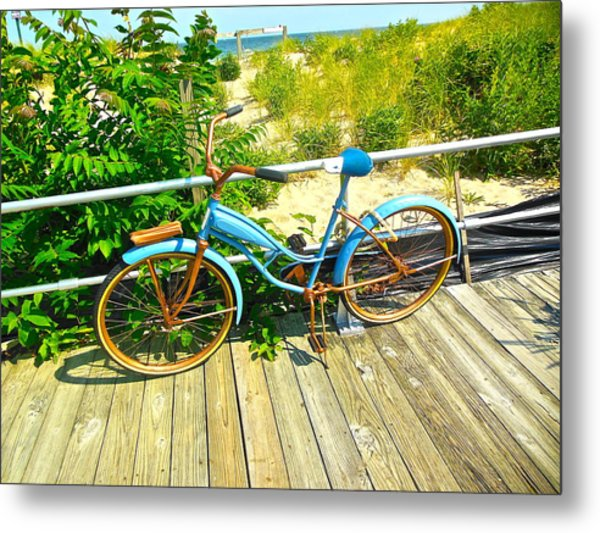 Ocean Grove Bike Metal Print