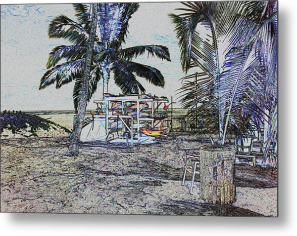 Ocean Kayacks Metal Print