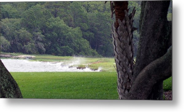 Ocean Spray At Hilton Head Island Metal Print