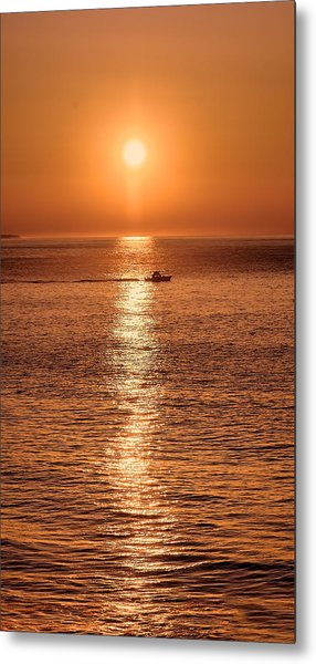 Ocean Sunrise At Montauk Point Metal Print