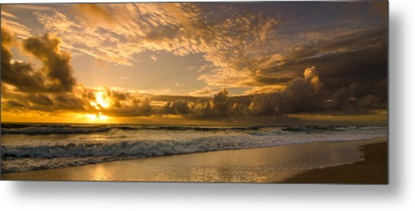 Ocean Sunrise Metal Print by Tammy Ray
