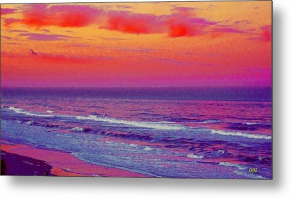 Ocean Sunset 1 Metal Print