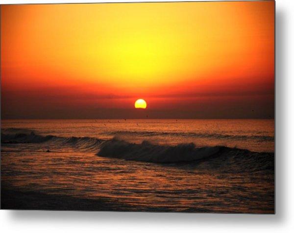 Ocean Sunset Metal Print by Manu G