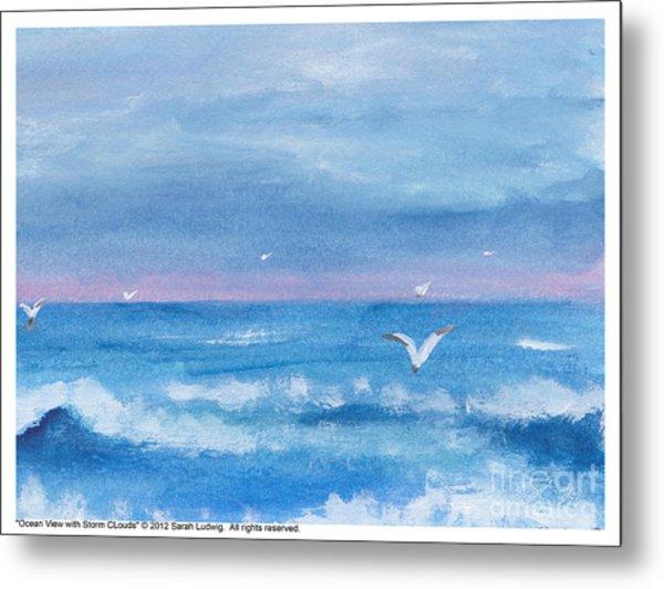 Ocean View #2 Metal Print by Sarah Howland-Ludwig