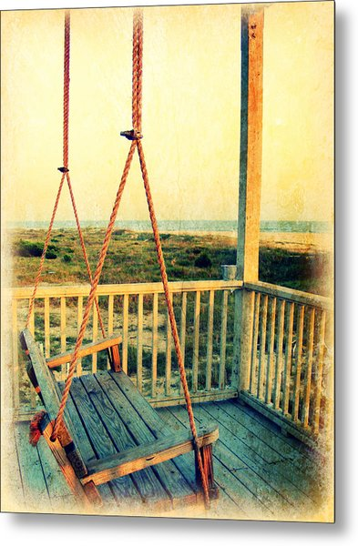 Ocean View At Oak Island 2 Metal Print