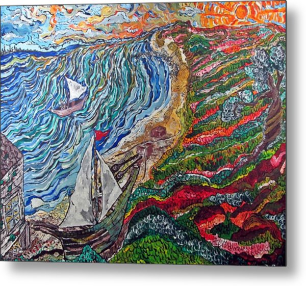 Ocean View Metal Print by Matthew  James