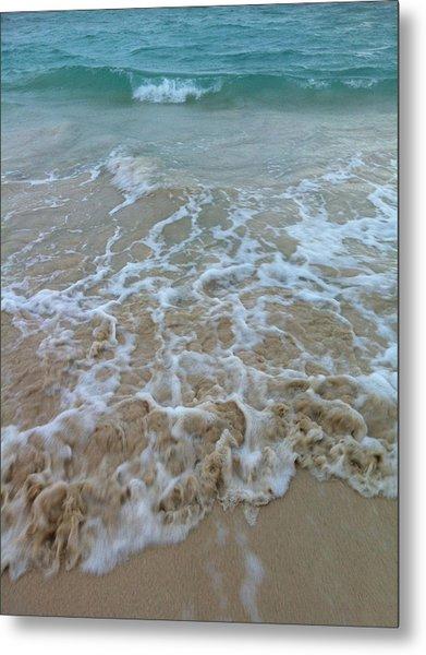 Ocean Wave Caress Metal Print