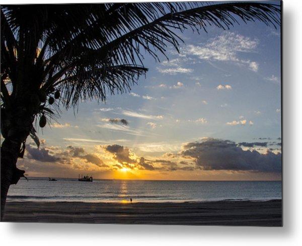 Oceanfront Park Sunrise 1 Metal Print