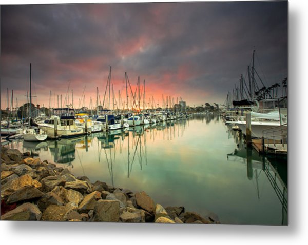 Oceanside Harbor Sunrise Metal Print