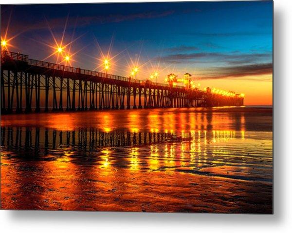 Oceanside Pier 2 Metal Print