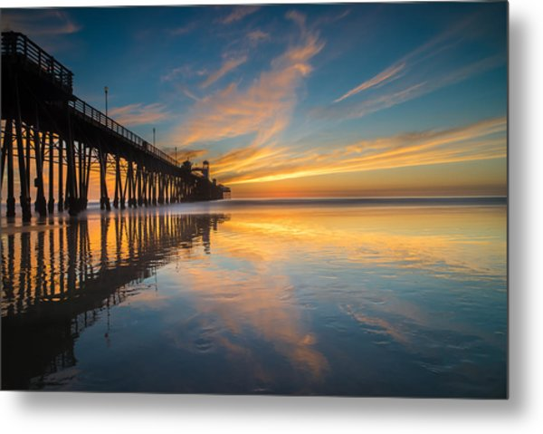 Oceanside Reflections 2 Metal Print by Larry Marshall