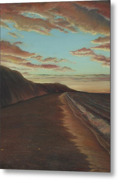 Oceanside Sunset Metal Print