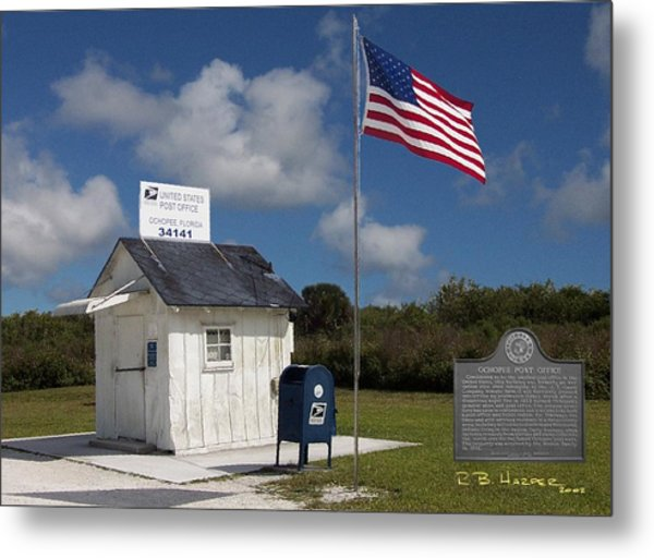 Ochopee Post Office Metal Print