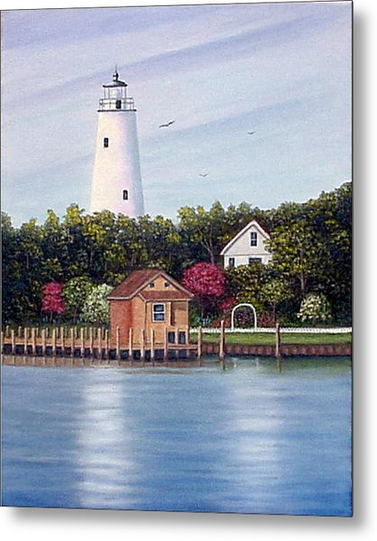 Ocracoke Island Light Metal Print