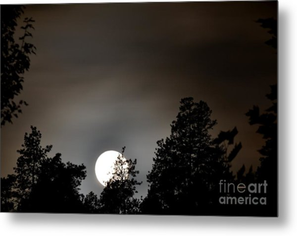 October Full Moon I Metal Print by Phil Dionne