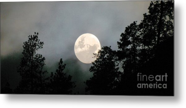 October Full Moon Iv Metal Print by Phil Dionne