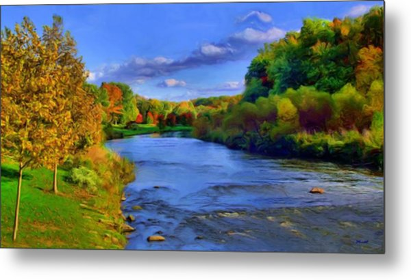 October On The Cuyahoga Metal Print